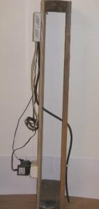 Kabel genom yttervägg i genomskärning